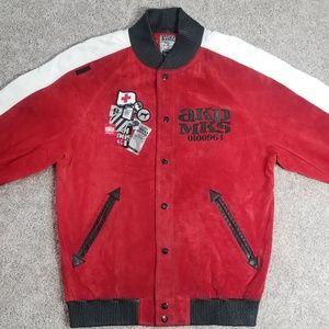 "Akademiks ""Suede & Leather"" Light Coat"